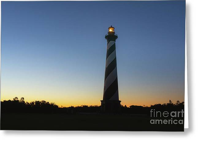 Cape Hatteras Silhouette Sunrise  Greeting Card