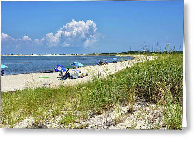 Greeting Card featuring the photograph Cape Henlopen State Park - Beach Time by Brendan Reals