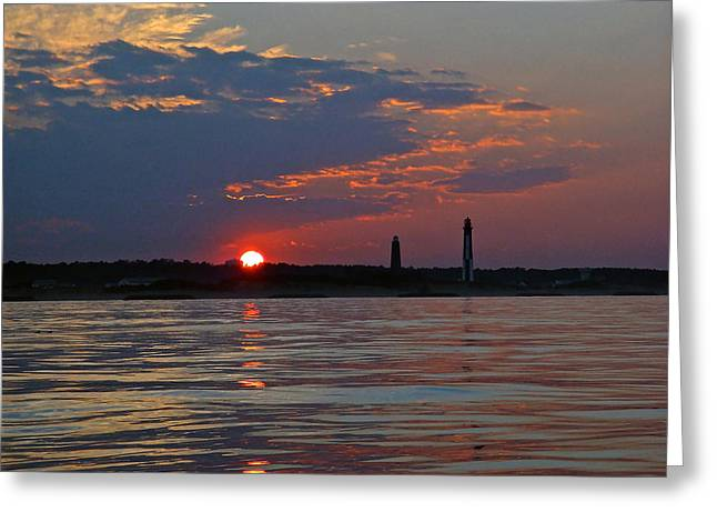 Cape Henry Sunset Greeting Card