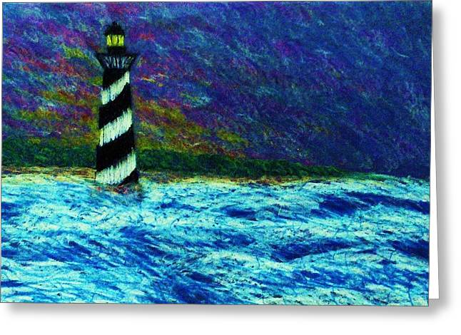 Cape Hetteras Light House Greeting Card by Jeanette Stewart