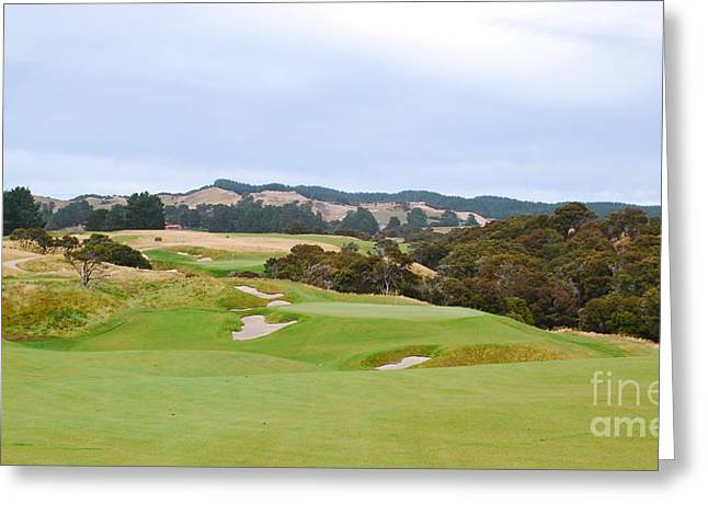 Cape Kidnappers  1 Golf Course New Zealand  Greeting Card