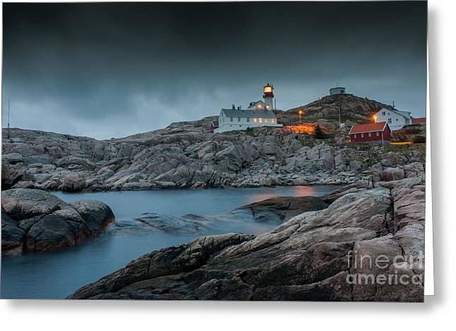 Cape Lindesnes Lighthouse Greeting Card by Carsten Kopp