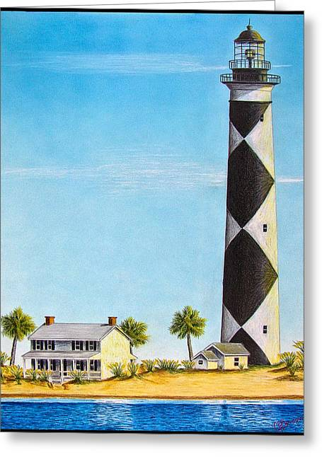 Cape Lookout Lighthouse Greeting Card by Chad Brittain