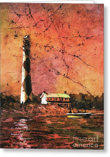 Cape Lookout Lighhtouse Greeting Card by Ryan Fox