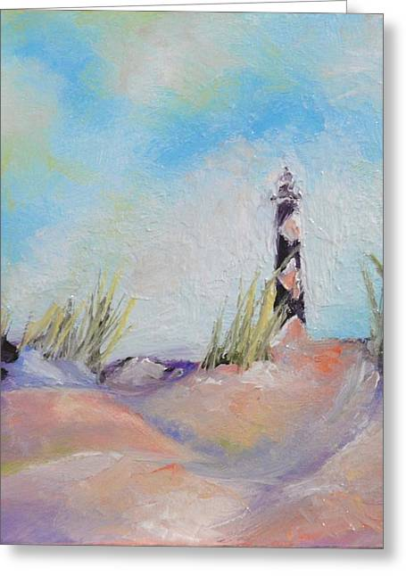 Cape Lookout Lighthouse Greeting Card by Donna Pierce-Clark