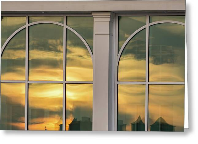 Cape May Abstract Sunset Reflection Greeting Card