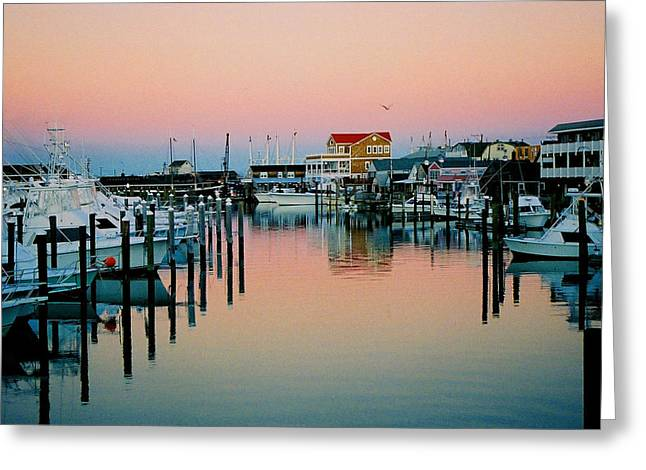 Greeting Card featuring the photograph Cape May After Glow by Steve Karol