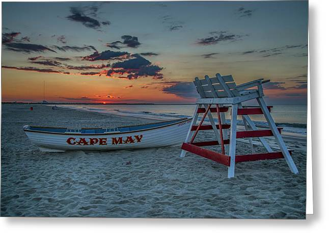 Cape May At Sunrise - Cape May New Jersey Greeting Card by Bill Cannon
