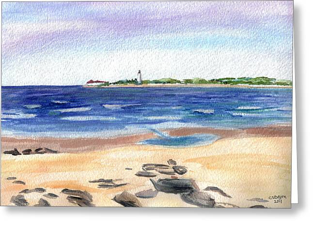 Cape May Beach Greeting Card