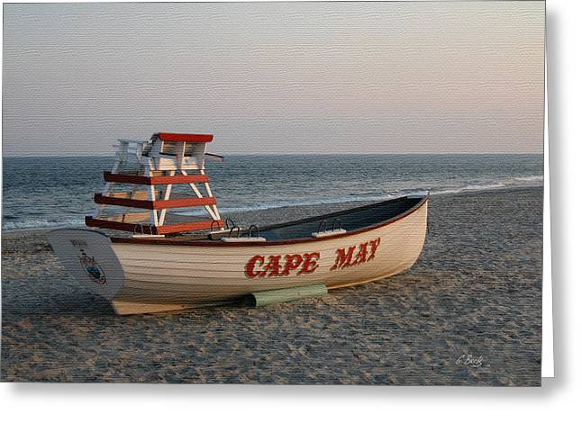 Cape May Calm Greeting Card by Gordon Beck