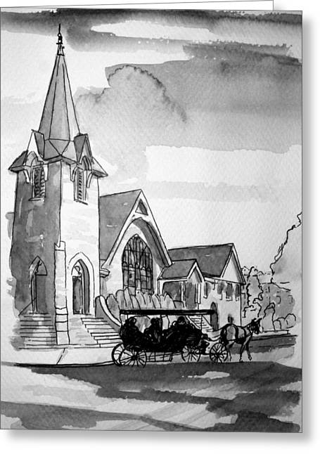 Cape May Carriage Greeting Card by George Lucas