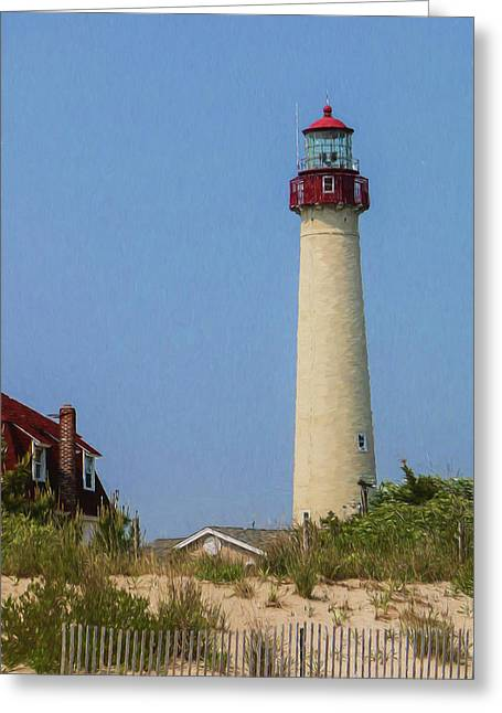 Cape May Lighthouse Vertical Greeting Card