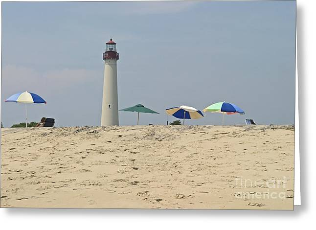 Cape May Lighthouse View Greeting Card by Andrew Kazmierski