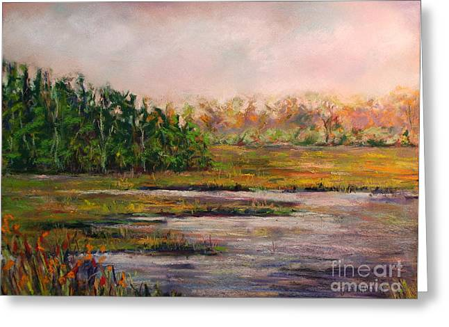 Cape May Marsh Greeting Card by Joyce A Guariglia
