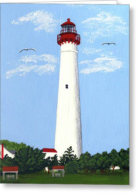 Lighthouse Greeting Cards - Cape May Painting Greeting Card by Frederic Kohli