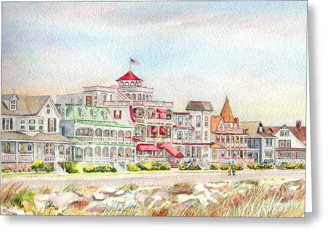Cape May Promenade Cape May New Jersey Greeting Card