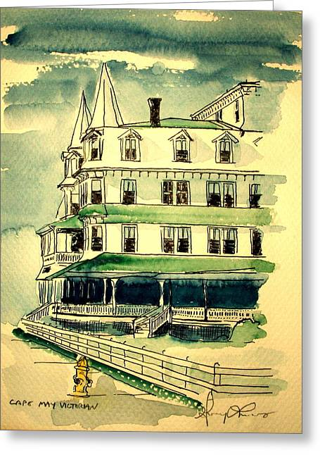 Cape May Victorian Greeting Card by George Lucas
