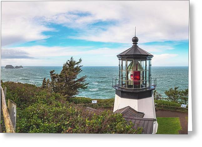 Greeting Card featuring the photograph Cape Meares Bright by Darren White