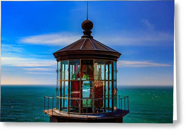 Cape Meares Lighthouse Greeting Card by Rick Berk