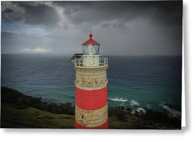 Greeting Card featuring the photograph Cape Moreton Light by Keiran Lusk