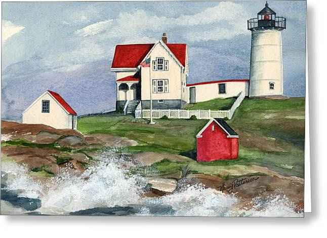 Cape Neddic Lighthouse  Greeting Card