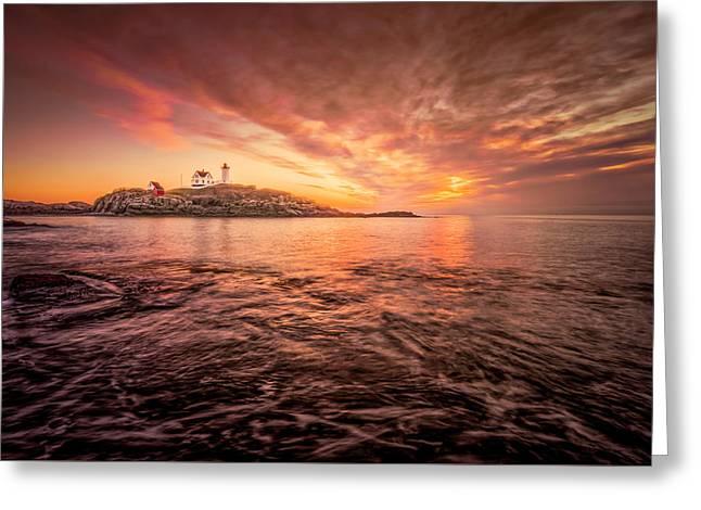 Cape Neddick Light - At Dawn Greeting Card