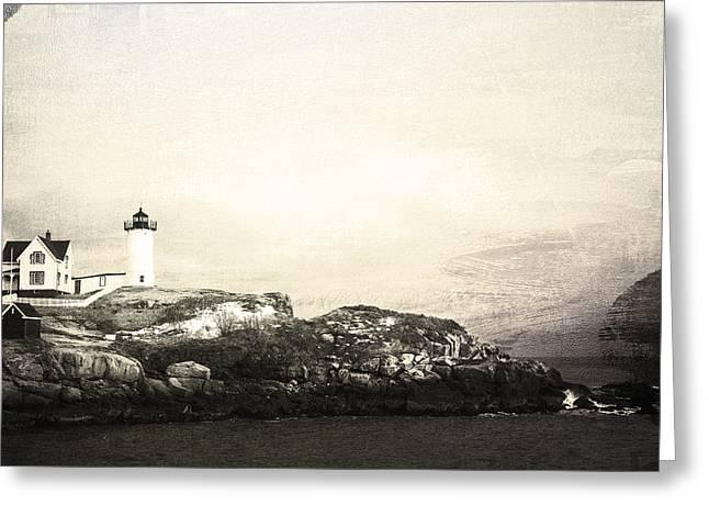 Cape Neddick Light House Greeting Card by Sue OConnor