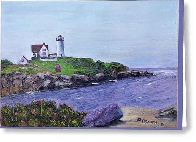 Cape Neddick Lighthouse Greeting Card by Daniel Smith