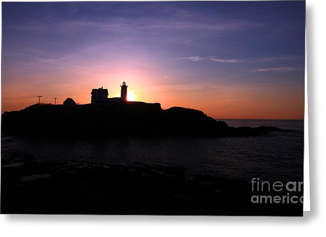 Cape Neddick Lighthouse Greeting Card by Jim Beckwith