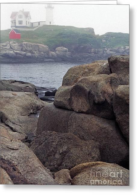 Cape Neddick Lighthouse York Maine Greeting Card by Thomas R Fletcher