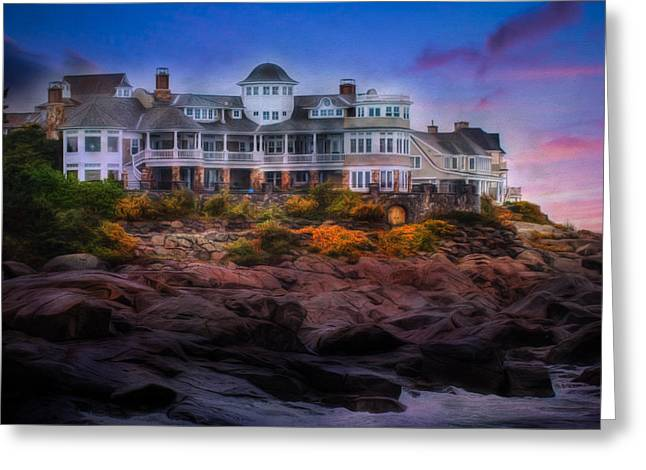 Greeting Card featuring the photograph Cape Neddick Maine Scenic Vista by Shelley Neff