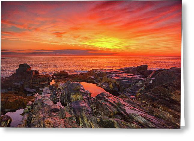 Cape Neddick Sunrise Greeting Card
