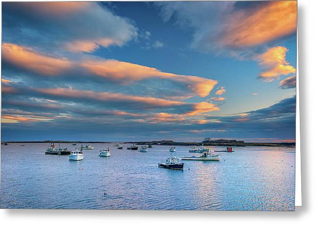Cape Porpoise Harbor At Sunset Greeting Card