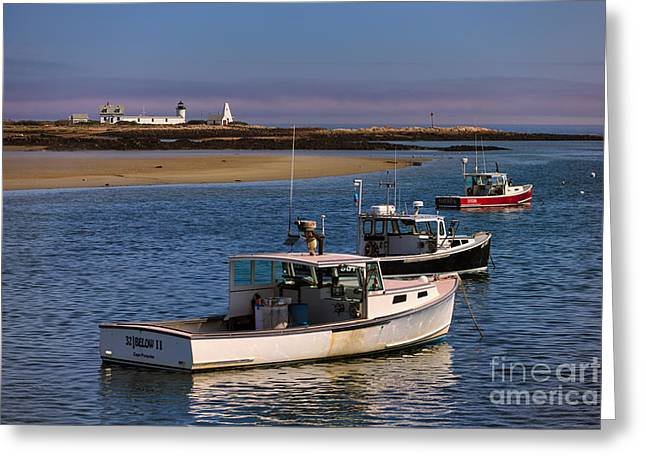 Cape Porpoise Harbor Greeting Card by Jerry Fornarotto