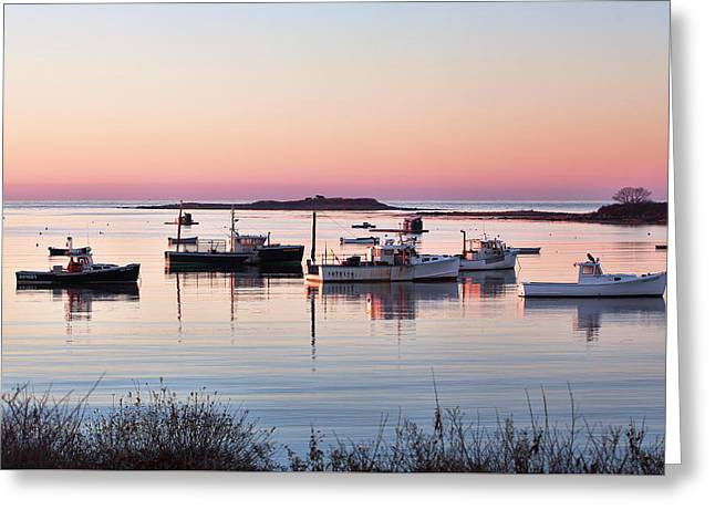 Cape Porpoise Harbor Morning Greeting Card