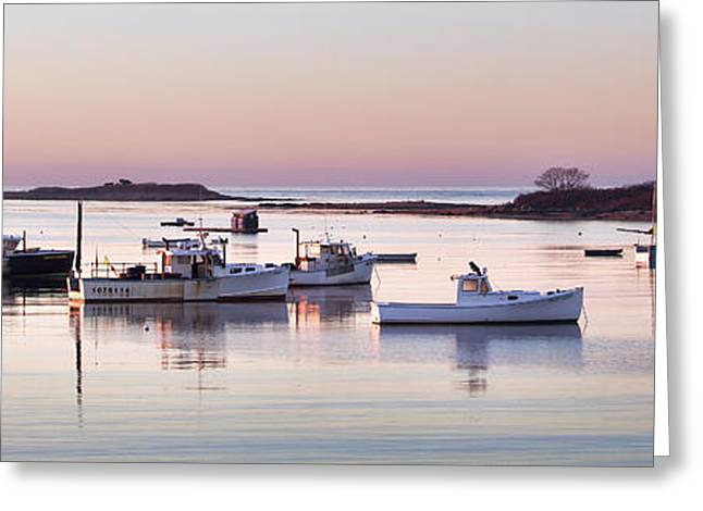 Cape Porpoise Harbor Panorama Greeting Card