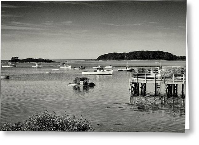 Cape Porpoise Harbor Greeting Card