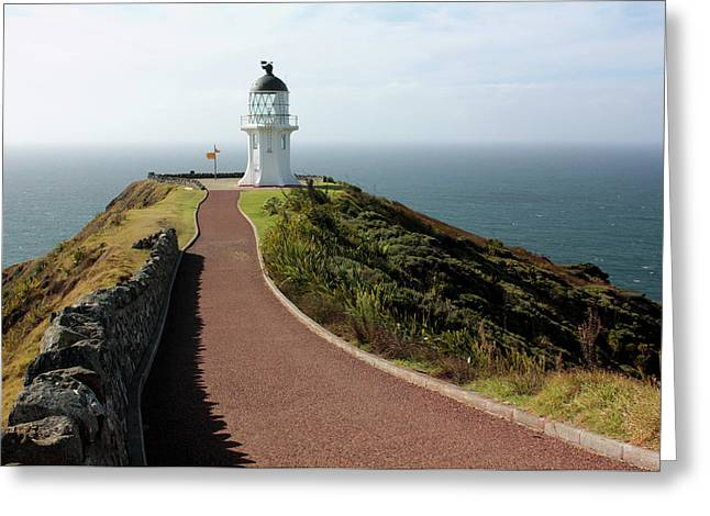 Cape Reinga Lighthouse Greeting Card by Bruce
