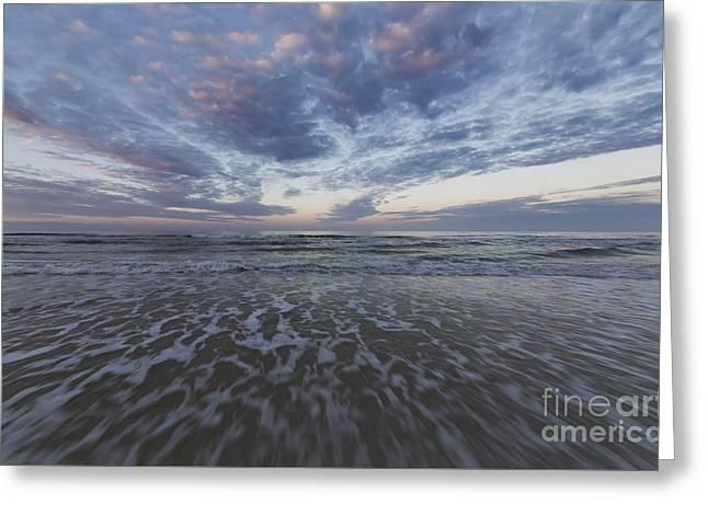 Cape San Blas Waves Greeting Card by Twenty Two North Photography