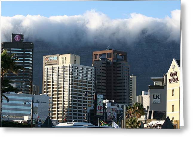 Cape Town - Smoking Mountain Greeting Card by Andrei Fried