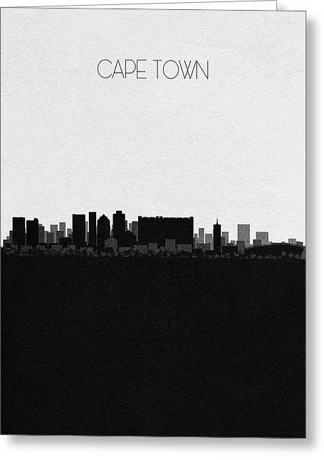 Cape Town Cityscape Art Greeting Card
