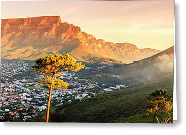 Cape Town, South Africa Greeting Card by Alexey Stiop