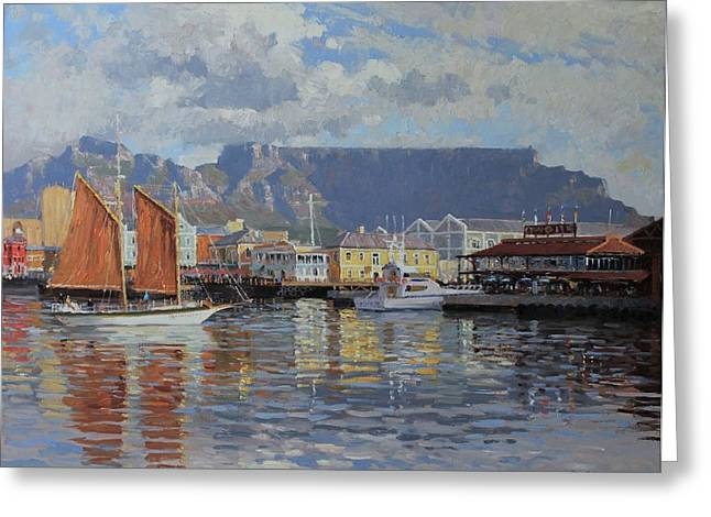 Cape Town Greeting Cards - Cape Town Waterfront  Greeting Card by Roelof Rossouw