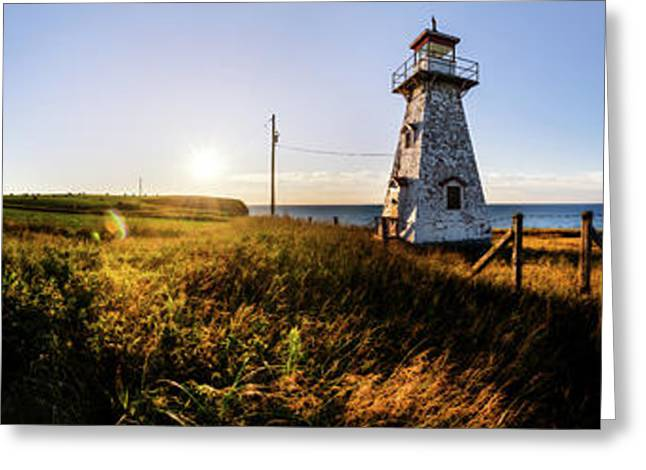 Greeting Card featuring the photograph Cape Tryon Light by Chris Bordeleau