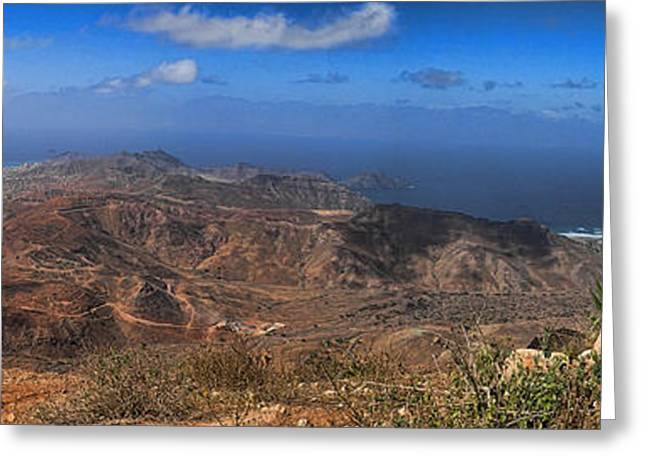 Cape Verde Panorama Greeting Card by David Smith