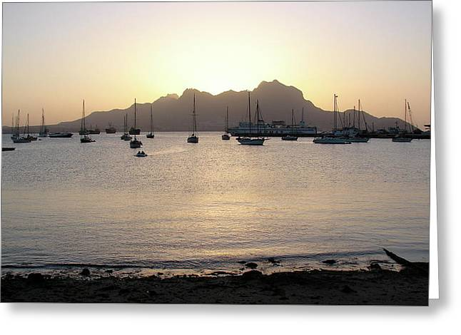 Cape Verde Sunset Greeting Card