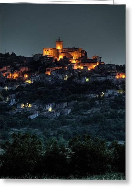 Capestrano Abruzzo Italy Greeting Card by Tom  Doherty