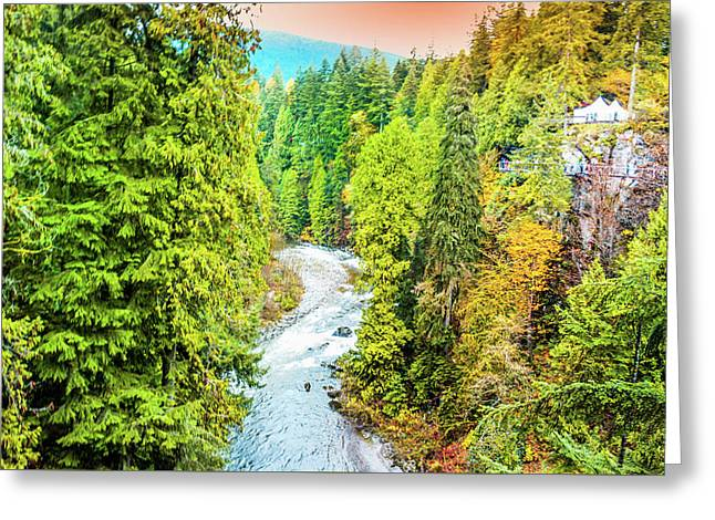 Capilano River, Vancouver Greeting Card