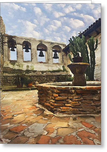 Capistrano Fountain Greeting Card