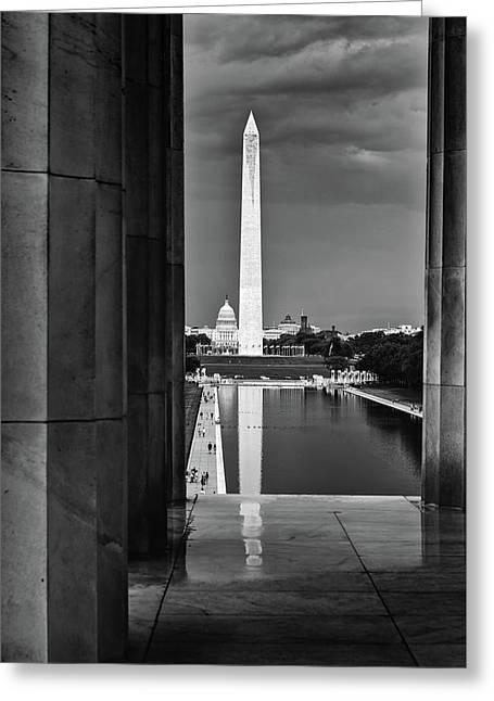 Capita And Washington Monument Greeting Card by Paul Seymour